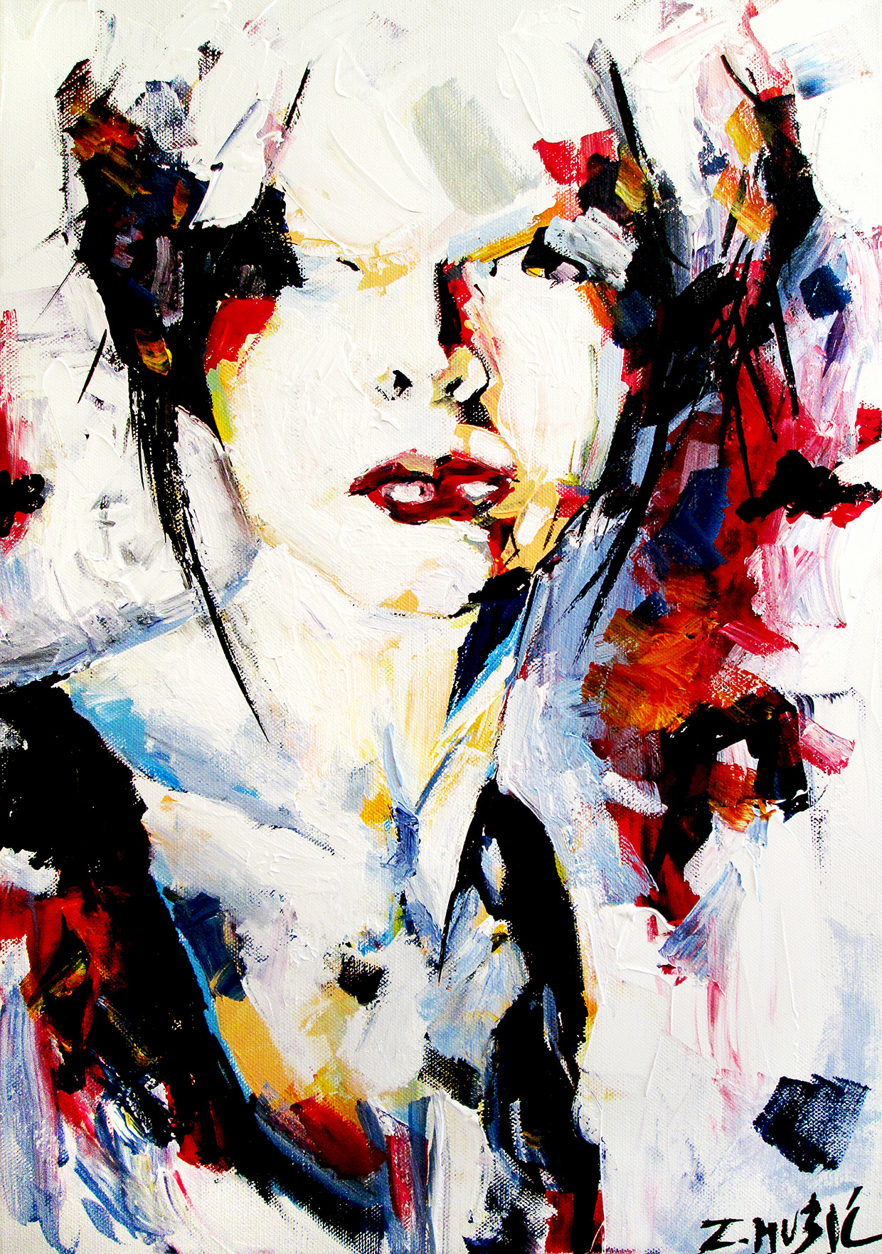 Modern Art Painting Abstract Portrait Acrylic On Canvas Contemporary Art Painting
