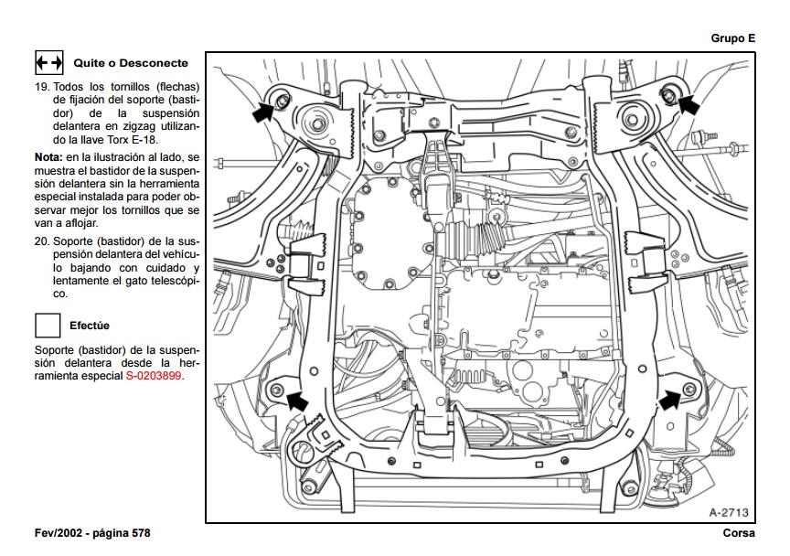 opel Diagrama del motor