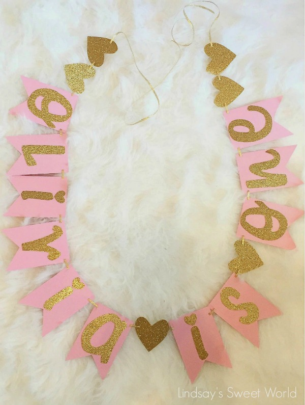 21 Pink and Gold First Birthday Party Ideas - Pretty My Party - first birthday banner