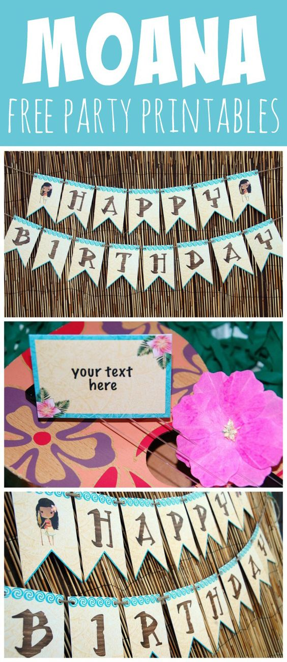 Free Disney Moana Birthday Party Printables - Pretty My Party