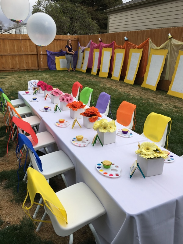 23 Creative Art Themed Party Ideas Paint Party Ideas