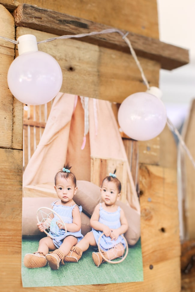 Fence Toppers Twins Boho Themed 1st Birthday Party - Pretty My Party