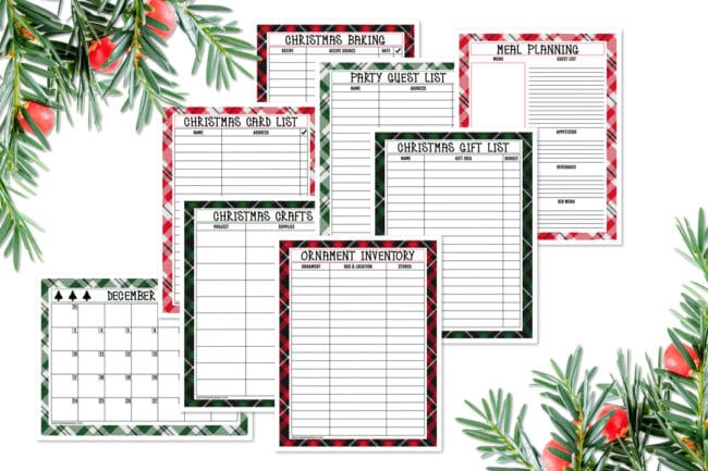 Free Printable Holiday Planner Pack - Pretty My Party - Party Ideas