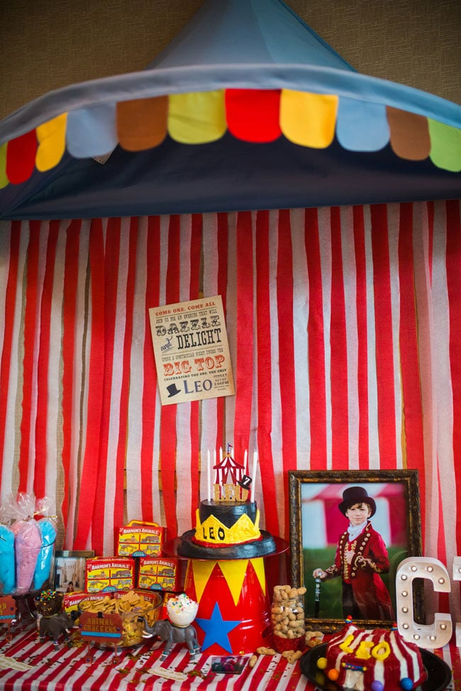 Ikea Hot Dog Party Big Top Circus Theme Party - Circus Party Ideas - Pretty