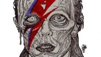 Zombie Art Zombie David Bowie Portrait Tribute Zombie Art by Rob Sacchetto