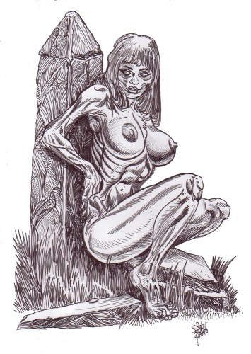 Zombie Art : Zombie Pinup #230 Zombie Art by Rob Sacchetto