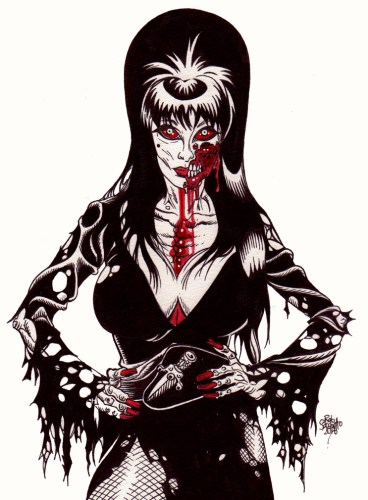 Zombie Art Pinup #250 : Elvira Zombie Art by Rob Sacchetto