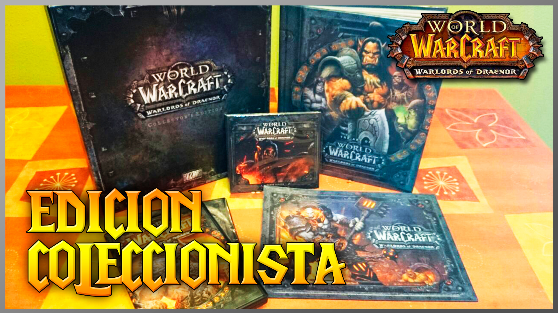 Libros Wow Unboxing World Of Warcraft Warlords Of Draenor Edición
