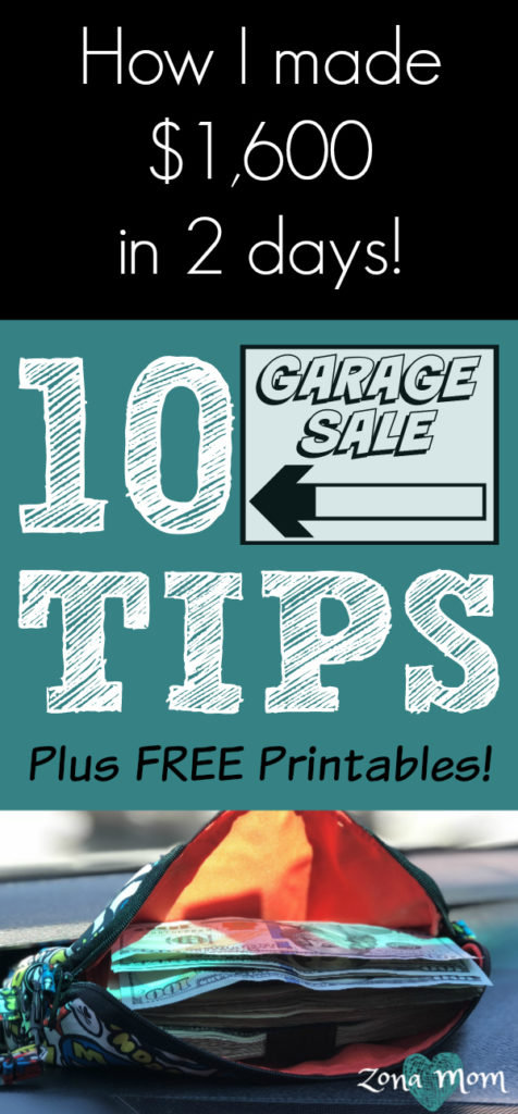 10 Tips For a Successful Garage Sale- Free printables