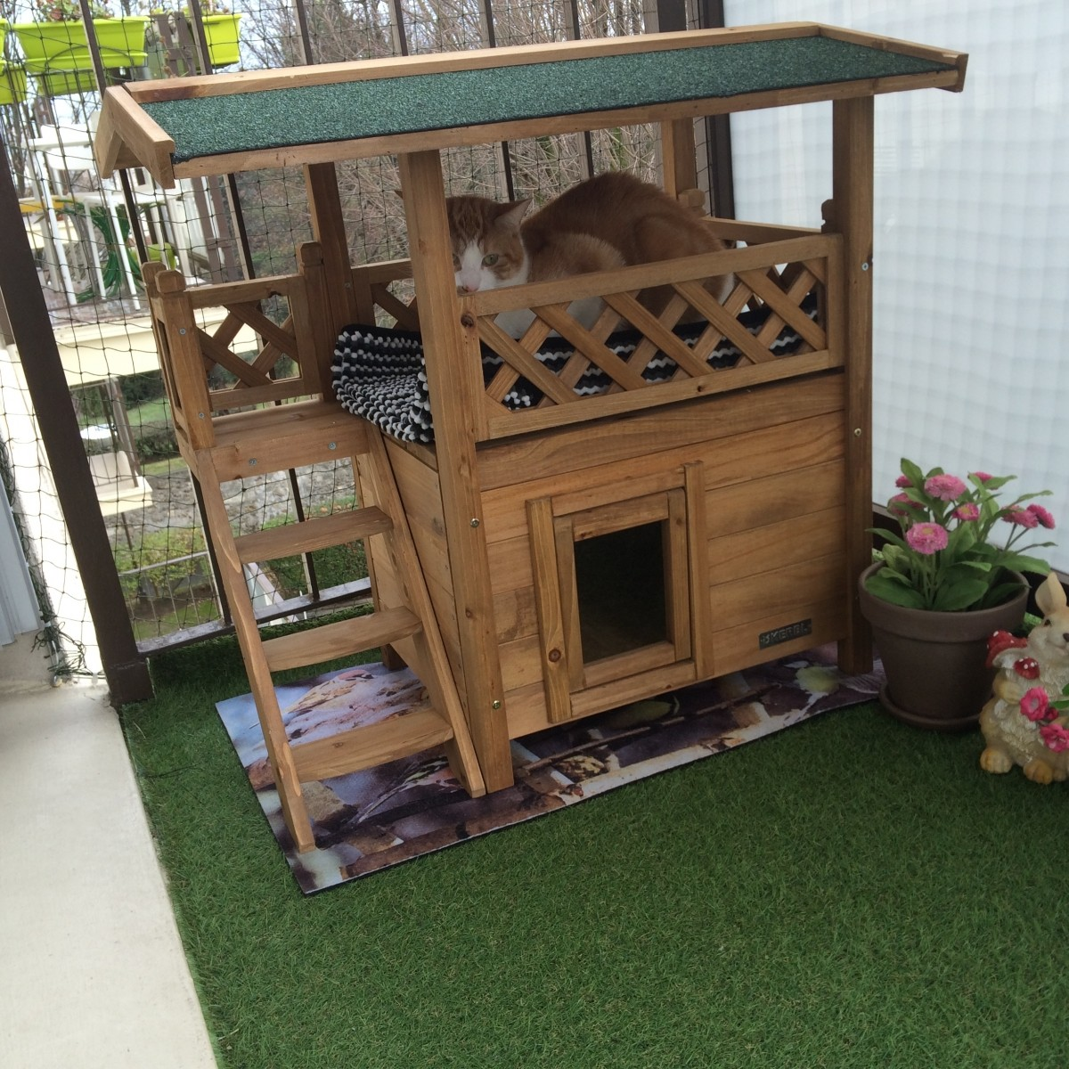 Maison Chat Exterieur Maisonnette Pour Chat Lodge Couchage Chat