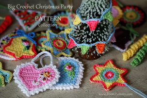 collection of patterns for crochet Christmas ornaments