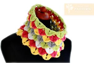 crochet crocodile stitch cowl pattern