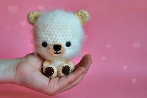 how to make miniature teddy bear, crochet teddy bear, tutorial, step by step, pictures, images