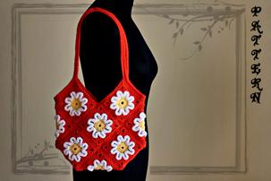 crochet 3D flower purse, crochet 3D, 3D crafts, pdf pattern, tutorial, pictures, step by step, images, etsy