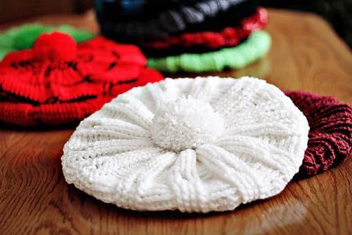 crocheted cap