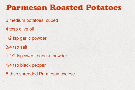 Parmesan roasted potatoes recipe with step by step photos, ingredients