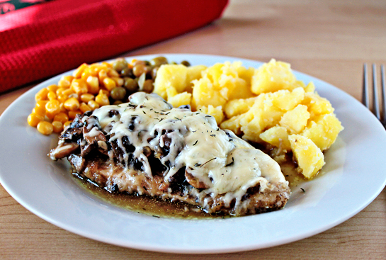 chicken with mushrooms and cheese step by step recipe with ingredients and pictures