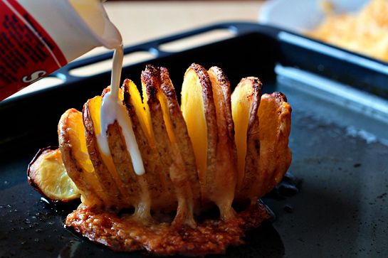 Scalloped hasselback potatoes step by step picture recipe. Bake for about 60 minutes.