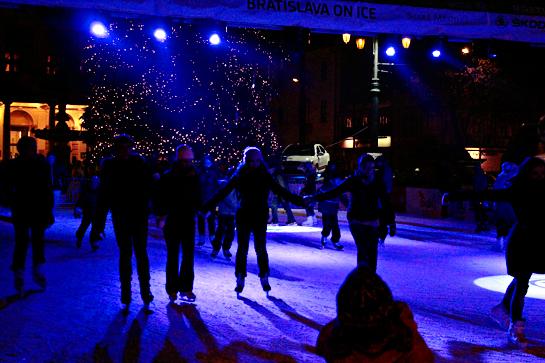 Christmas market ice skating