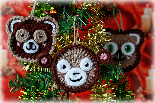 crochet animal ornaments pattern