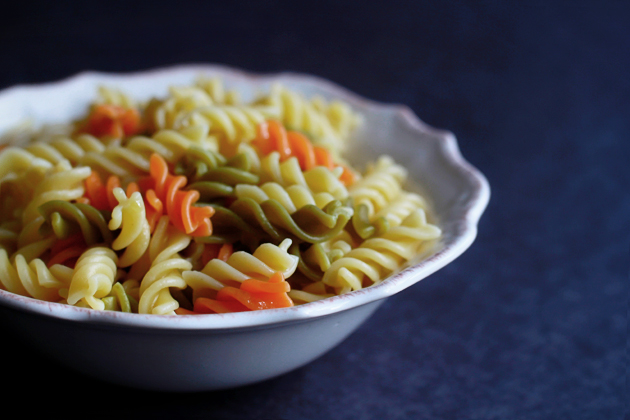colorful pasta in a bowl