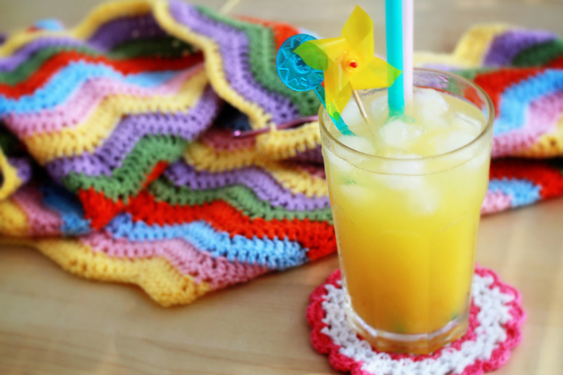 simple colorful crochet ripple lap blanket pattern