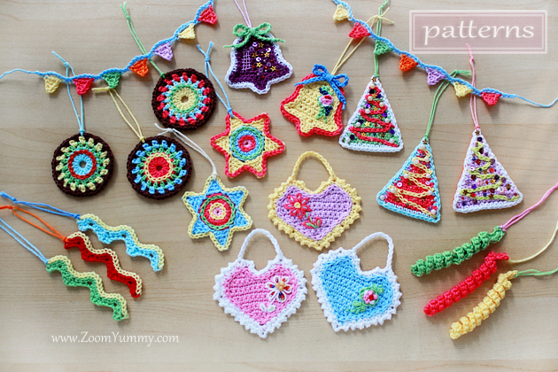 Christmas crochet ornaments pattern collection