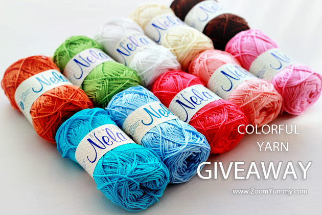 colorful yarn giveaway on zoomyummy.com