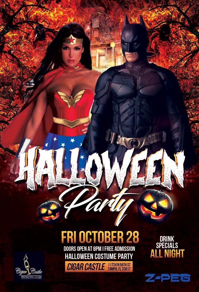 Cigar Castle Halloween Party Flyer - ZPEGDESIGN