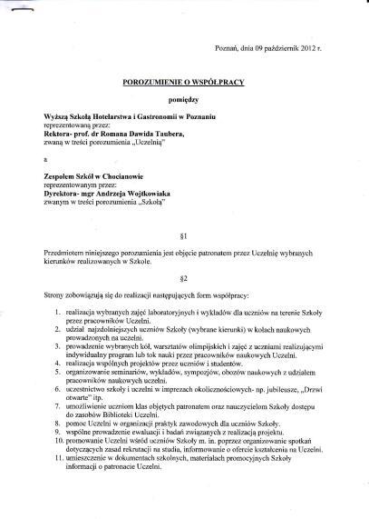 Skan porozumienia, strona 1