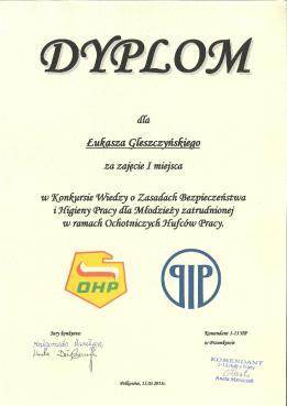 Dyplom Łukasza