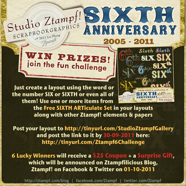 Join the fun Challenge to win $25 Coupon to Studio Ztampf!