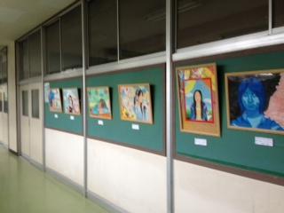 校内作品展示と市内研究開発発表会で