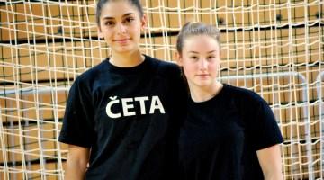 ŽURDovki Mirjeta Bytyqi in Anamarija Baruca v slovenskem dresu na mednarodni rokometni turnir v Švico