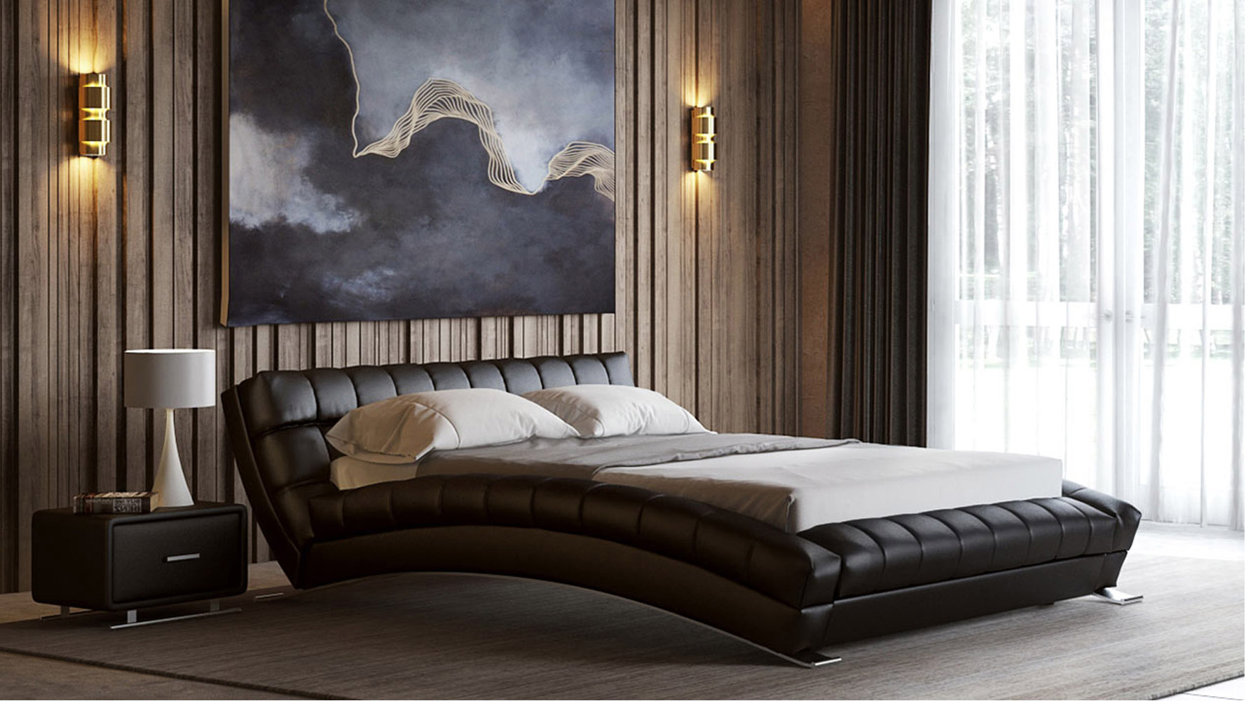 Leather Bed Frame Adonis Leather Bed
