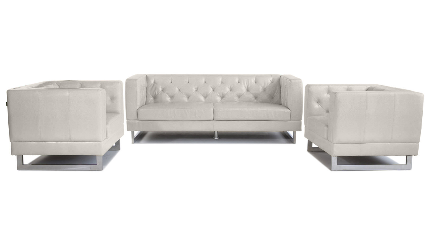 Alpha Sofa Group Zeta Sofa Set With 2 Armchairs Beige