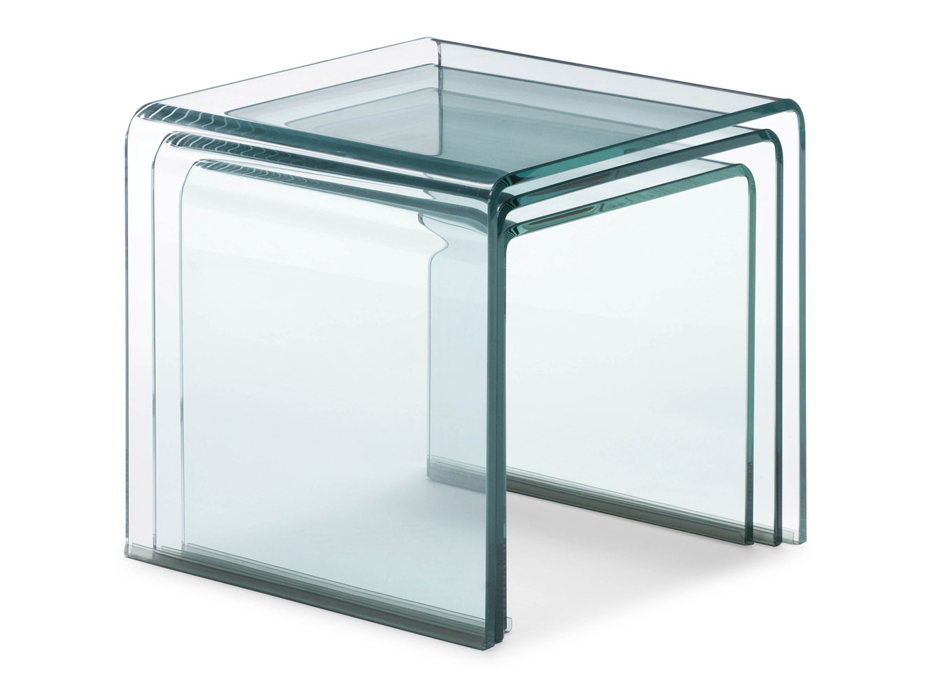 Glass Nesting Tables Leah Nesting Table