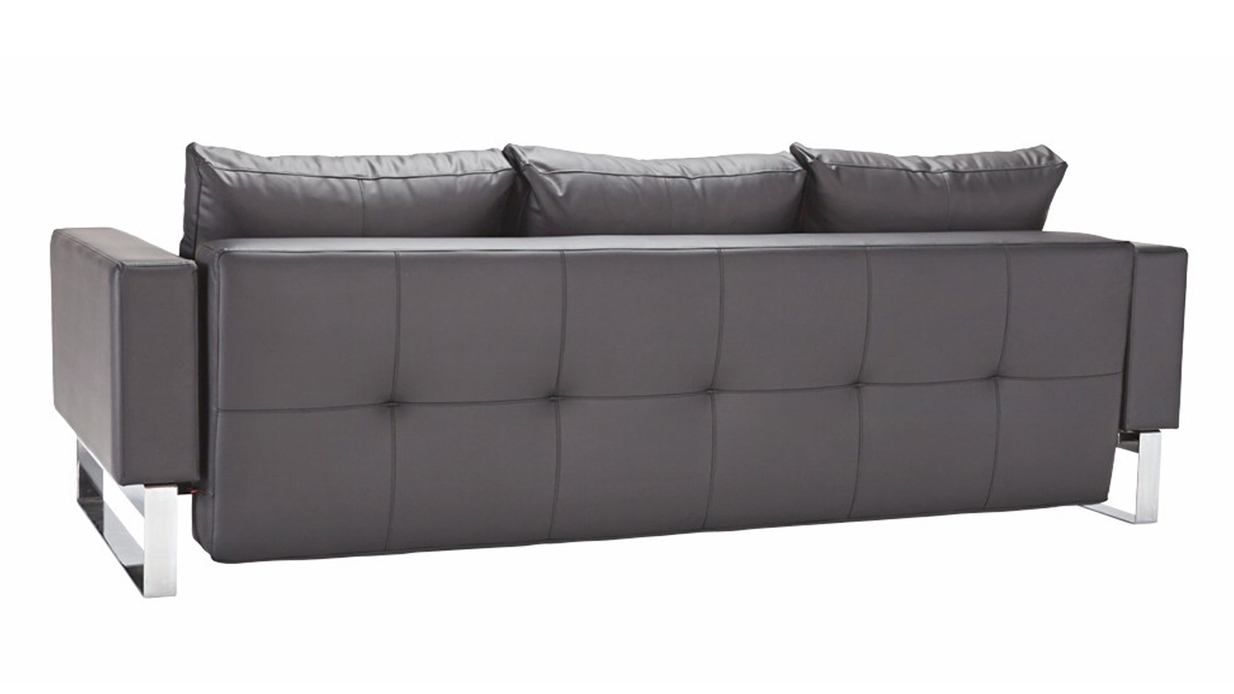 Big Sofa Maximus Maximus Chrome Sofa In Black Zuri Furniture