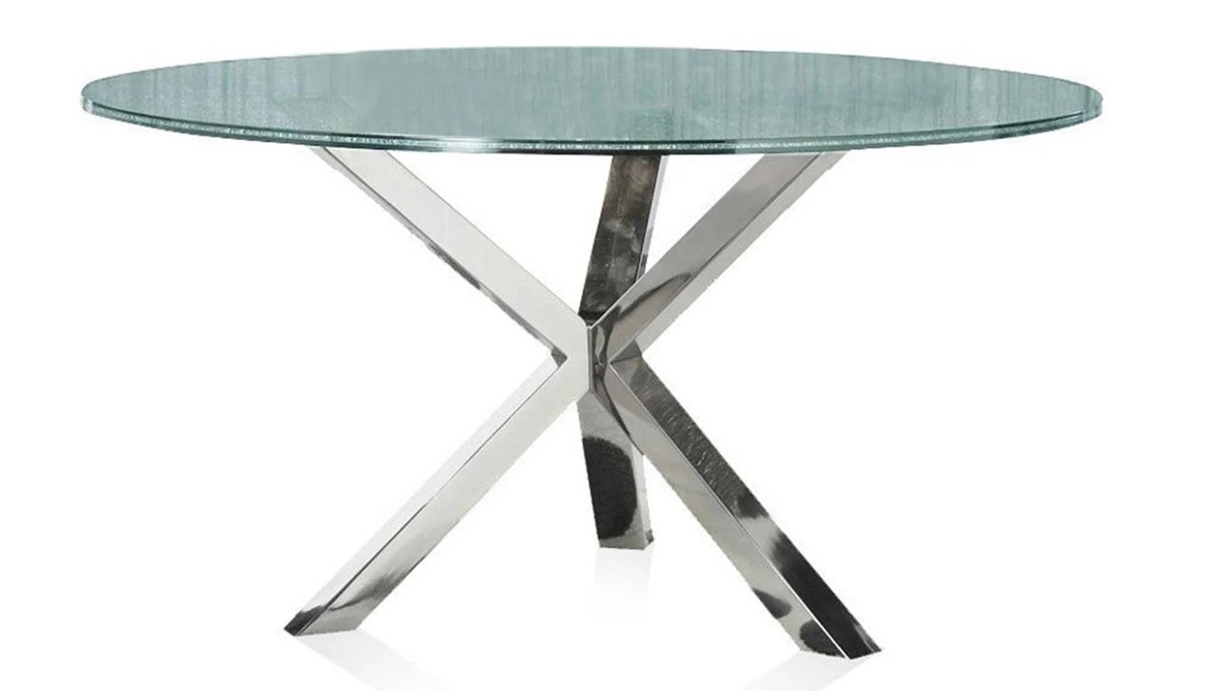 Modern Round Glass Dining Table Cointet 60 Inch Round Dining Table Crackle Glass