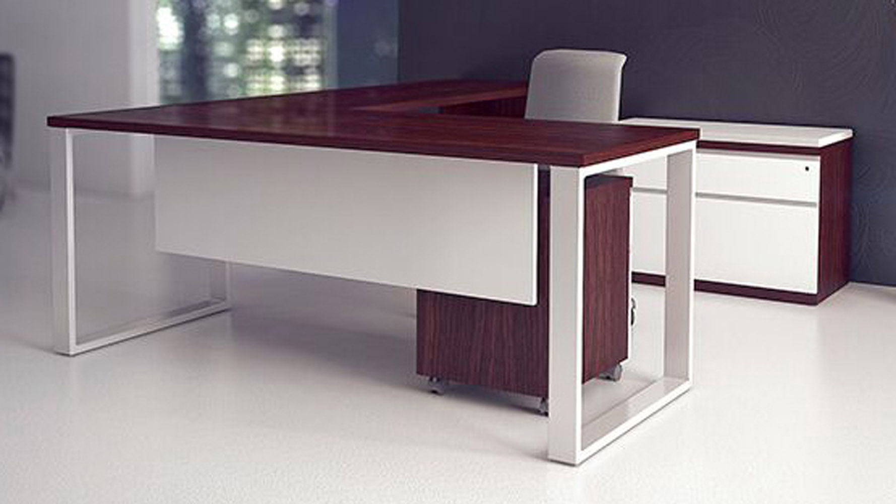 Desk Modern Modern At Two L Shaped Desk Biedermeier Cherry Zuri