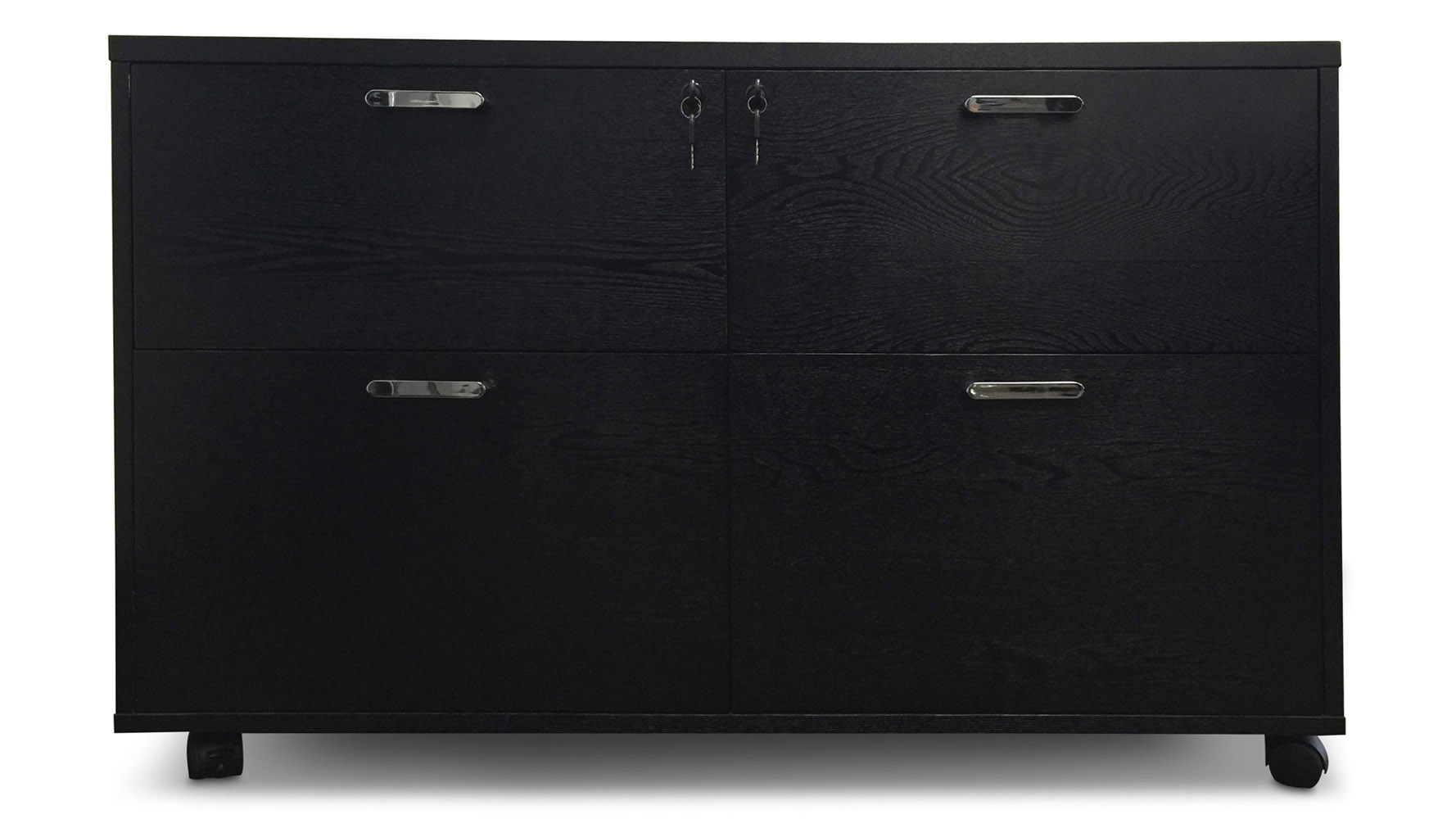 Solid Wood File Cabinet Warren Filing Cabinet Black