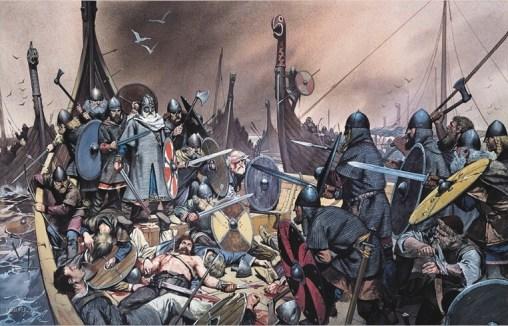 battaglia fra due equipaggi vichinghi