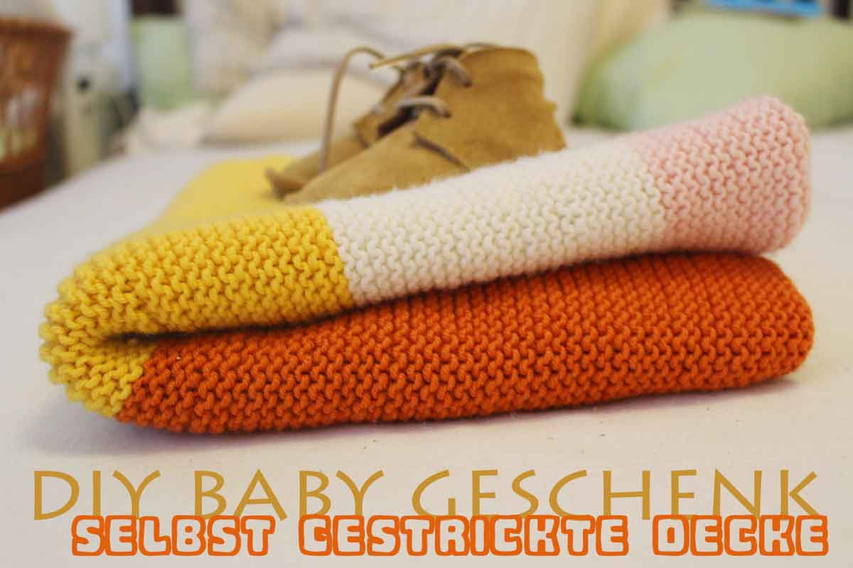 Wolldecke Stricken Diy Gift Super Easy Baby Blanket Tutorial