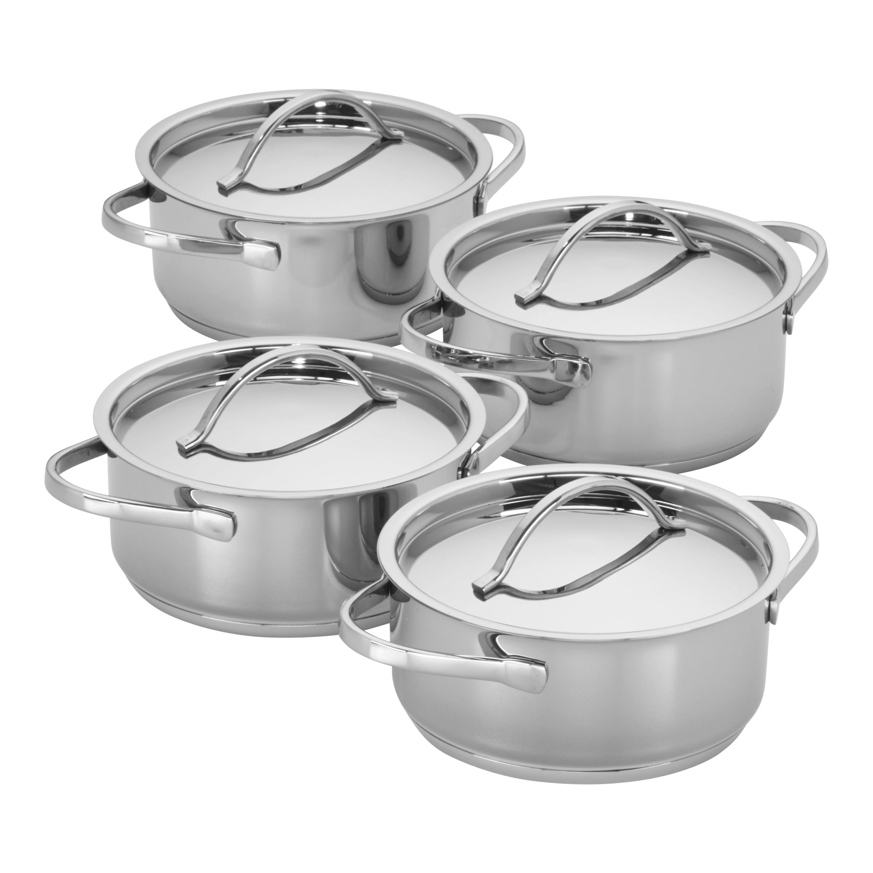 Myer Cutlery Set Demeyere Resto 4 Pc Stainless Steel Mini Dutch Oven Set