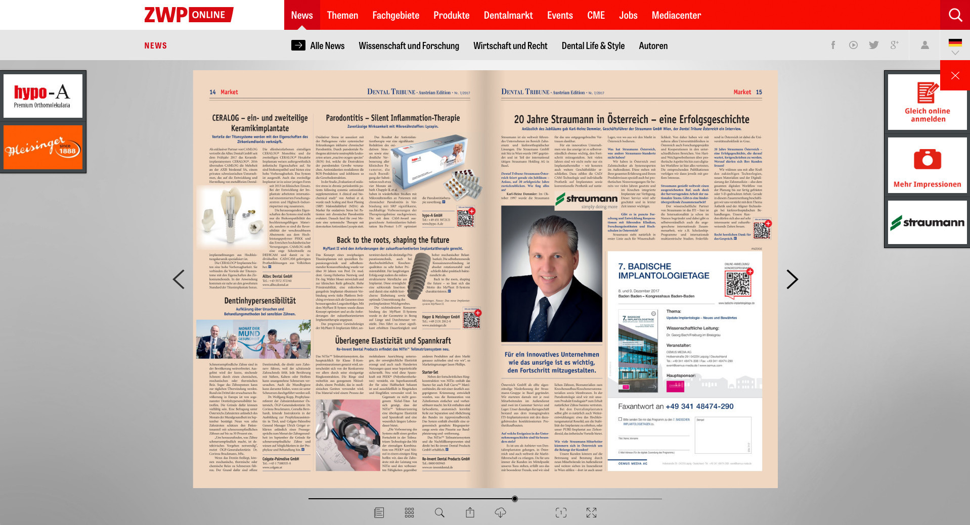 Dtstudyclub Italy Home E Paper The Tribune The Tribune About Us Dental Tribune