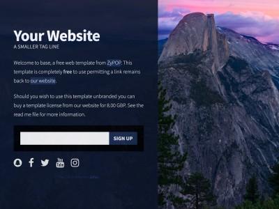 Cv Free web templates, HTML5 and CSS layouts - ZyPOP Web Templates