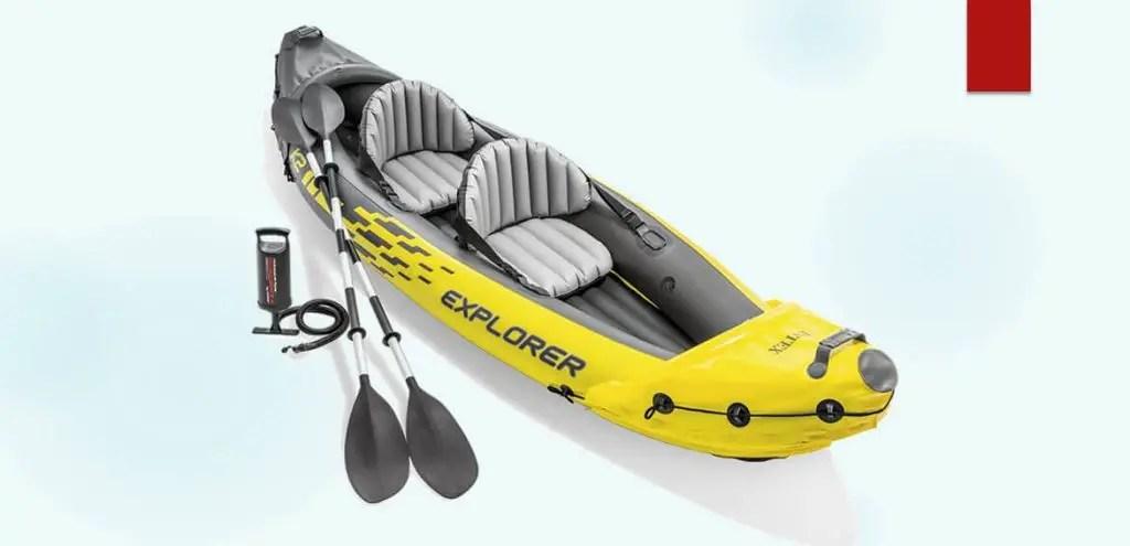 Intex Explorer K2 Kayak/Sit on Top Kayak 400 Lbs Capacity