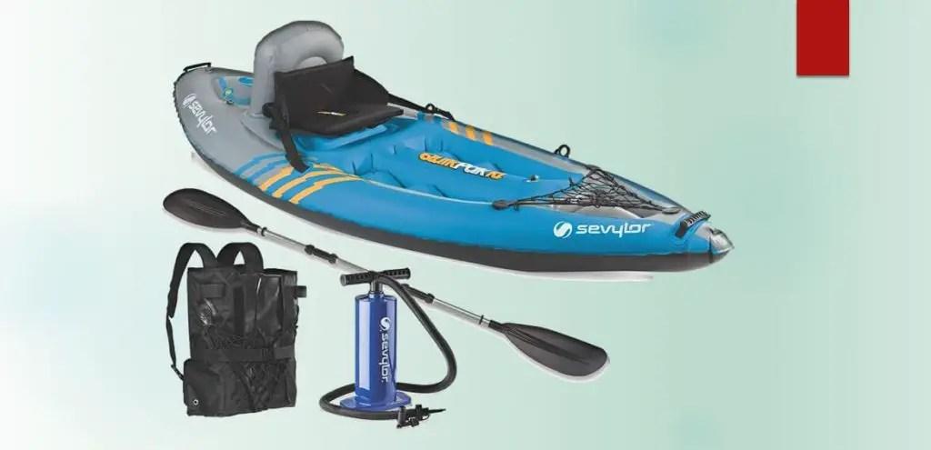 Lightest Sit-On-Top Kayak/Sevylor Quikpak K1 1-Person Kayak