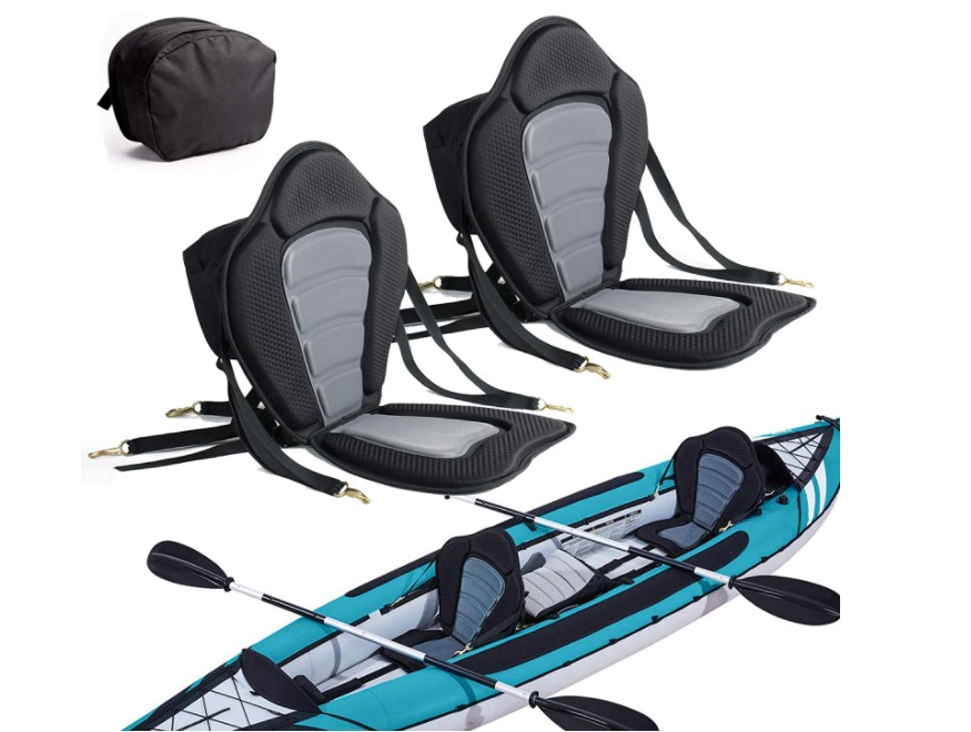 2 Pack of Kayak Seat Deluxe Padded Canoe Backrest Seat Sit On Top Cushioned Back