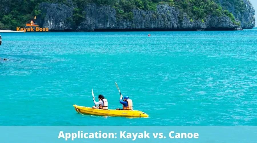 Application: Kayak vs. Canoe